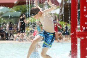 Carter Reitz, 9, of DeForest, cools off during opening day at Goodman Pool on June 10, the first 90-degree day of the season. The heat index -- which can be higher or lower than the actual temperature -- indicates how hot it feels. (Photo credit: Amber Arnold, State Journal)