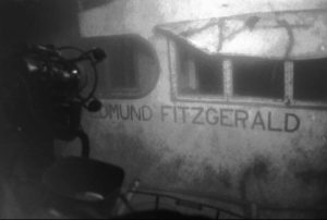 "A November gale is associated with the sinking of the Edmund Fitzgerald, a mammoth ore freighter, and the loss of its 29 crew members in 1975. The event was memorialized by Gordon Lightfoot's ballad ""The Wreck of the Edmund Fitzgerald."" (Photo credit: Associated Press)"