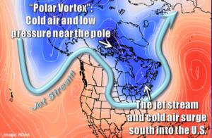 Map of current polar vortex